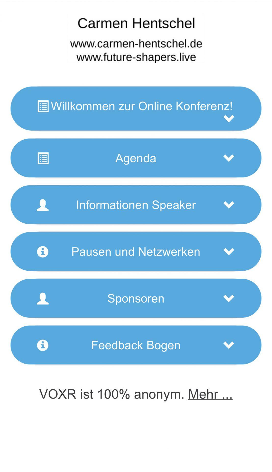 Videokonferenz online konferenzen Event Agenda